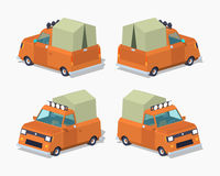 Orange pickup with tent Royalty Free Stock Image