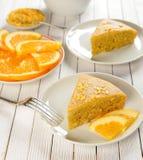 Orange pie Stock Photo