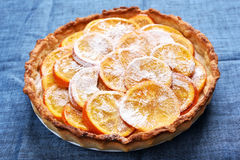Orange pie, close up view Royalty Free Stock Images