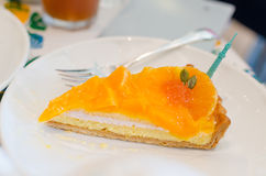 Orange pie Royalty Free Stock Image