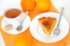 Orange pie Stock Image