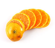 Orange Piece Isolate Stock Image