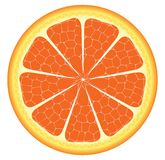 Orange piece or slice Royalty Free Stock Images