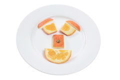 Orange Pieces Royalty Free Stock Photography
