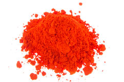 Orange pigments Royalty Free Stock Images