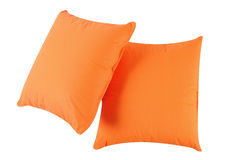 Orange pillows. Isolated Stock Images