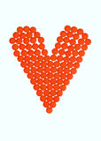Orange pills of love Royalty Free Stock Photos