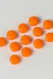 Orange Pills Royalty Free Stock Image