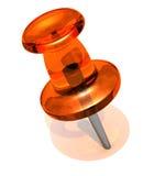 Orange pin Stock Photography