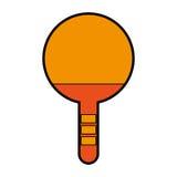 Orange Ping pong racket Stock Photo