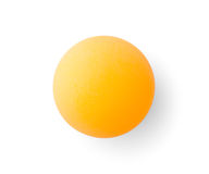 Orange pingpong ball Stock Photos
