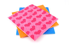 Orange, pink and blue napkins Stock Image