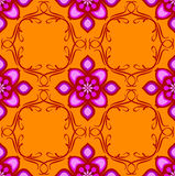Orange pink eastern seamless Royalty Free Stock Photography