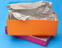 Orange and Pink Fancy Gift Box Stock Photos