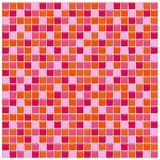 Orange, pink and red glass tiles. Bathroom wall with orange, pink and red glass mosaic tiles Stock Image