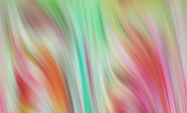 Green pink soft colorful waves like shapes, abstract background. Orange pink vivid colorful pastel waves like shapes and forms, abstract background and hypnotic royalty free illustration
