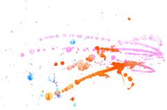 Orange and Pink Watercolor Stock Photography