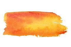 Orange Pinselanschläge Stockbilder