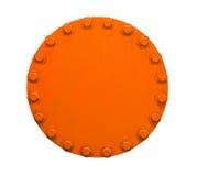 Orange pipe stock image
