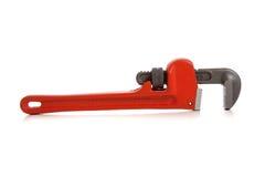 Orange Pipe Wrench On White Stock Photo