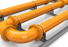The orange pipeline Stock Photos