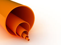 Orange Pipes 3D. 3d rendered orange pipes isolated on white background Royalty Free Stock Image