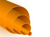 Orange pipes Stock Photos