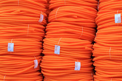 Orange pipes Stock Image