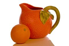 Orange and Pitcher stock image