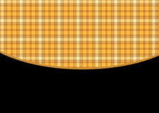 Orange Plaid Black Background Royalty Free Stock Photography