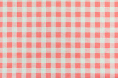 Orange plaid fabric Stock Photography