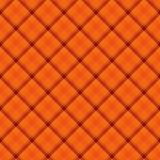 Orange  Plaid Fabric Background Stock Photo