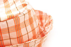 Orange plaid hat Royalty Free Stock Photo