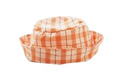 Orange plaid hat Stock Photos