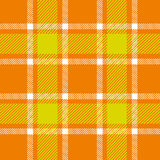 Orange plaid pattern Stock Image