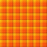 Orange Plaid Seamless Background Stock Images