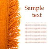Orange plaid wool over white Royalty Free Stock Image