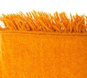Orange plaid wool over white Stock Photos
