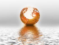Orange planet Stock Photos