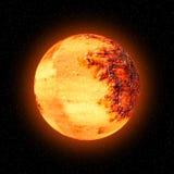 orange planetsun för moon Arkivbilder