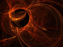 Orange plasma ball Stock Image