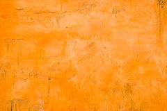 Orange plastered wall Royalty Free Stock Photography