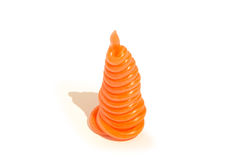 Orange plastic alloy in the form of a pyramid Stock Photos