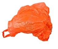Orange plastic bag Royalty Free Stock Images