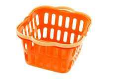 Orange plastic basket Royalty Free Stock Photography