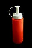 Orange plastic bottles mean a bottle of chili sauce Royalty Free Stock Image