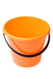 Orange plastic bucket Royalty Free Stock Images