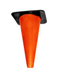 Orange plastic cone isolated stock images