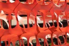 Free Orange Plastic Construction Barrier Fence Stock Photo - 149129130