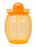 Orange plastic container isolated Royalty Free Stock Photo